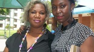 Waigizaji wa Filamu Yvon Cherry akiwa na Mama yake Suzan Lewis Maarufu Natasha