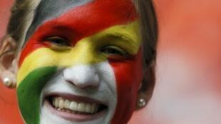 Итальянская болельщица в Варшаве на матче полуфинала Евро 2012 с Германией