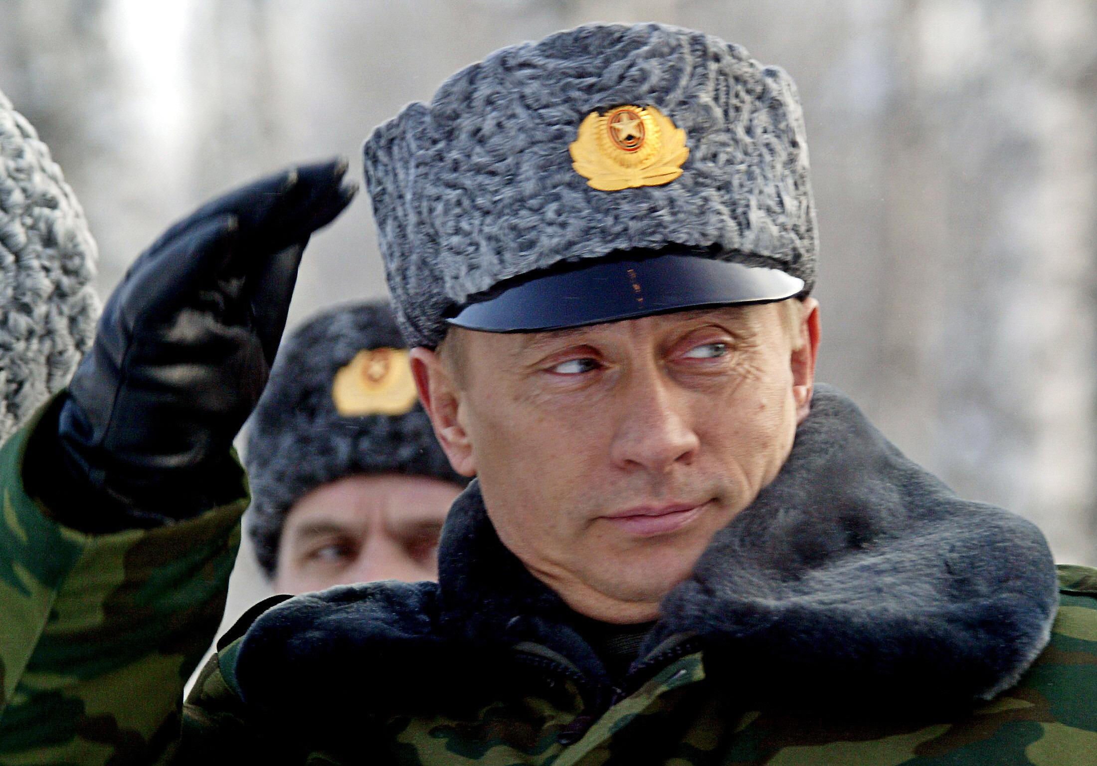 Владимир Путин на космодроме Плесецк 18 февраля 2004.