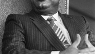 David Dacko, le 1er décembre 1979, à Bangui