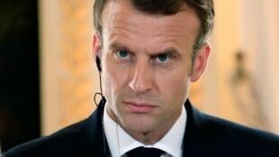 Le président Emmanuel Macron, le 17 juillet 2018 à Paris.