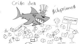 La crise immobilière et financière de 2008 aux Etats-Unis.