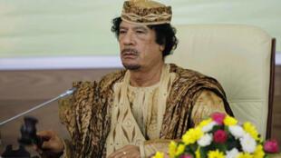 Le dirigeant libyen Mouammar Kadhafi au Sommet de l'Union africaine le 31 août 2009.