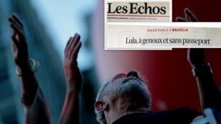 O jornal Les Echos desta segunda-feira (29) analisa as dificuldades do ex-presidente Lula após sua condenação a 12 anos de prisão.