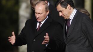 Владимир Путин и Франсуа Фийон