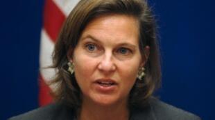 Phát ngôn viên bộ Ngoại giao Mỹ Victoria Nuland (AFP)