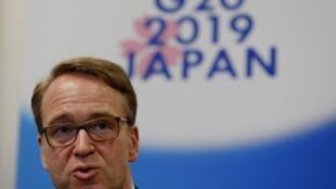Le président de la Bundesbank, Jens Weidmann, à la réunion des ministres des Finances et des gouverneurs des banques centrales du G20 à Fukuoka, le 9 juin 2019.