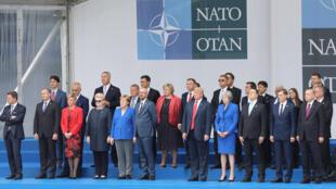 Lãnh đạo các nước thành viên NATO chụp ảnh lưu niệm tại thượng đỉnh Bruxelles, ngày 11/07/ 2018.