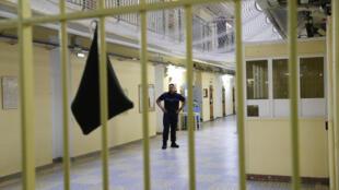 La prison de Fresnes, près de Paris, l'une des plus surpeuplées de France.