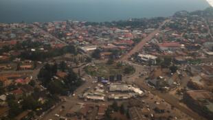 Vue aérienne du centre-ville de Goma, République démocratique du Congo. (Photo d'illustration)