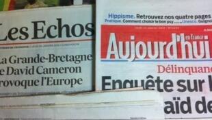 Primeiras páginas diários franceses 24/01/2013