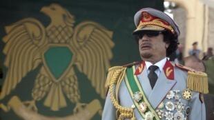 Mouammar Kadhafi à Tripoli, le 1er septembre 2011.