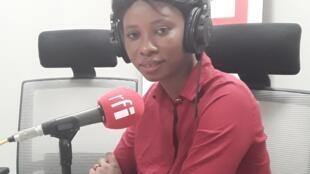 Khadija Cissé au micro de RFI.