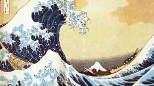 """""""A Grande Onda"""" é uma das obras mais famosas de Hokusai."""
