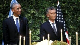 Barack Obama durante o jantar de Estado oferecido ontem pelo presidente argentino, Mauricio Macri.