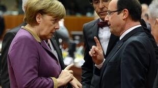 German Chancellor Angela Merkel and French President François Hollande in Brussels in March