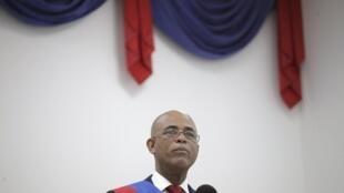 圖為海地卸任總統米歇爾馬爾泰利