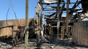 La base militar estadounidense de Ain al Asad, en Irak, tras un ataque iraní en enero de 2020
