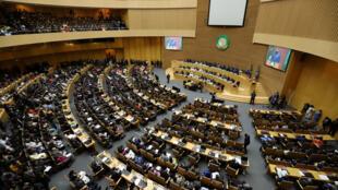 L'hémicycle qui accueille le sommet de l'Union africaine à Addis-Abeba (image d'illustration).