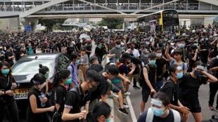 Biểu tình tại Hồng Kông ngày 21/06/2019.