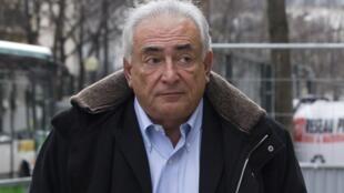 Dominique Strauss-Kahn in Paris this month