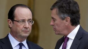 Франсуа Олланд (слева) пообещал начать судебные разбирательства после публикации расследования Panama Papers, согласно которому одним из французских владельцев панамских офшоров является экс-министр бюджета Франции Жером Каюзак (справа).