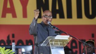 Discurso de Jacob Zuma, en el estadio Peter-Mokaba en Polokwane, el pasado 1° de mayo.