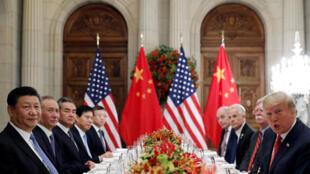 Phái đoàn Trung Quốc và Mỹ gặp nhau bên lề thượng đỉnh G20 ở Buenos Aires, Achentina, ngày 01/12/2018.