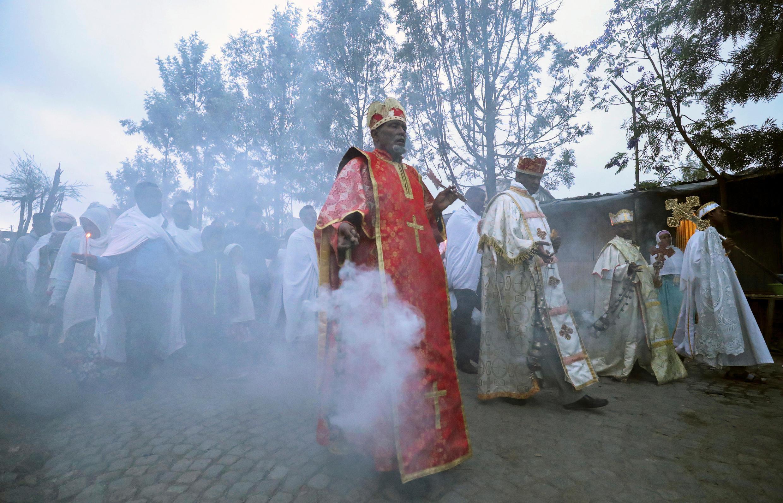 Крестный ход против коронавируса в Аддис-Абебе, Эфиопия. 26 марта 2020