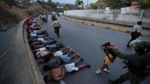 Những người bị lực lượng an ninh bắt giữ ngày 10/03/2019 trong đợt cúp điện tại Caracas.