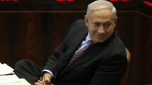 Israel's Prime Minister Netanyahu attends a session of the Israeli parliament in Jerusalem