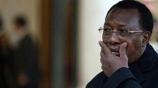 Chadian President Idriss Déby Itno in Paris last year