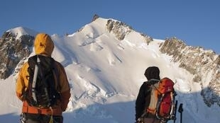 Trekkers at Mont-Blanc