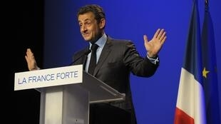 France's President and UMP party candidate Nicolas Sarkozy