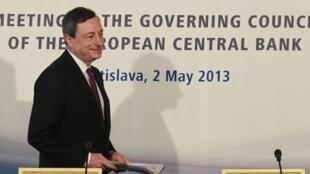 歐洲央行行長德拉吉  2013 5 2 布拉第斯拉瓦.