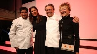 洛朗·貝迪(Laurent Petit)和阿根廷籍米其林二星廚師科拉格瑞柯(Mauro Colagreco )榮獲米其林頒發的第三顆星   2019年1月21日