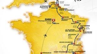 Маршрут велогонки «Тур де Франс-2014»