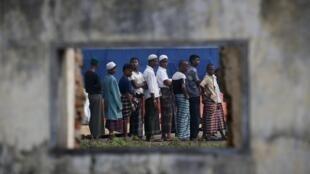 Migrants Rohingyas à Aceh en Indonésie, en 2015.
