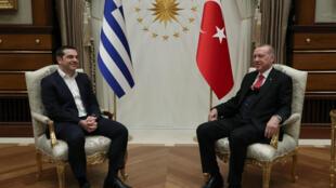 Алексис Ципрас и Реджеп Тайип Эрдоган в Анкаре, 5 февраля 2019