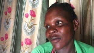 Janet, 27 ans, ex enfant soldat enrôlée de force par la LRA de Joseph Kony.