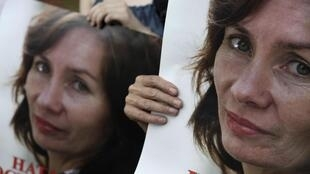 На Красной площади задержали участников пикета с требованием расследовать убийство Натальи Эстемировой