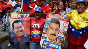 Une «marche pour la paix» organisée au Venezuela par le camp chaviste au pouvoir au Venezuela, le 5 octobre 2018.