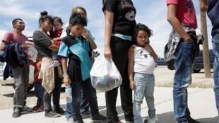 Migrants d'Amérique centrale et du sud à la frontière des États-Unis (image d'illustration).