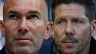 Les entraîneurs: Zinédine Zidane (Real Madrid) ; Diego Simeone (Atlético de Madrid) ; Alejandro Valverde (FC Barcelone).
