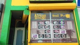 Devanture d'un restaurant, à Philadelphie, là où la communauté africaine aime à se retrouver.