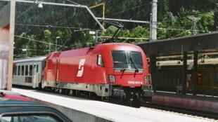 Un train de la compagnie nationale autrichienne ÖBB.