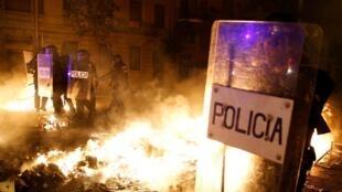 Disturbios en Barcelona, 16 de octubre de 2019.