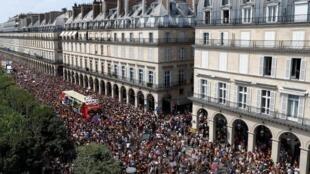 The Gay Pride parade in Paris, 30 June 2018