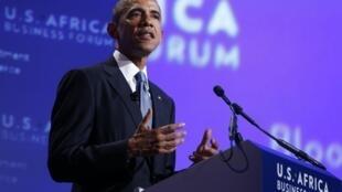 Tổng thống Obama muốn đầu tư 'mạnh mẽ' vào châu Phi. Ảnh chụp tại Washington ngày 05/08/2014.