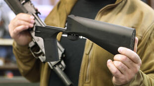 Un fusil semi-automatique dans une armurerie de Salt Lake City, dans l'Etat américain de l'Utah, le 5 octobre 2017.